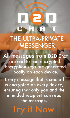 D2D Chat THE ULTRA-PRIVATE MESSENGER