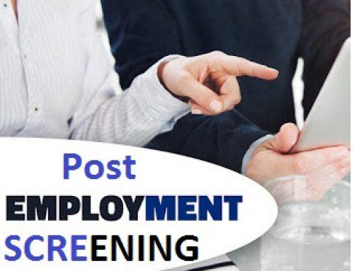 Virtues ofEmployement Screening and Background Checks